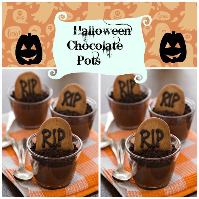 Halloween Chocolate Pots
