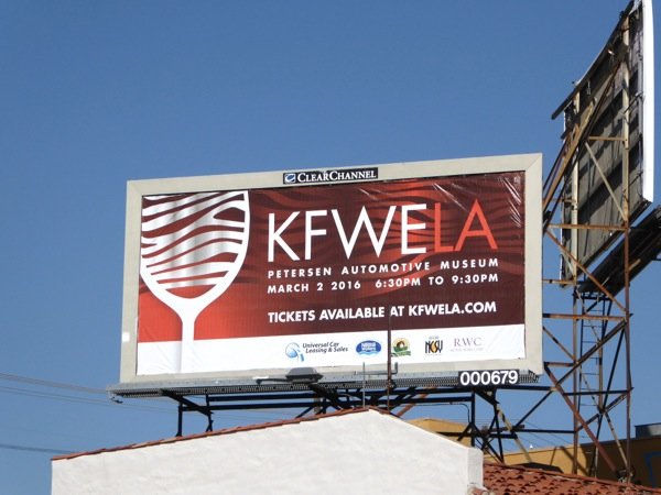 KFWELA Petersen Automotive Museum billboard