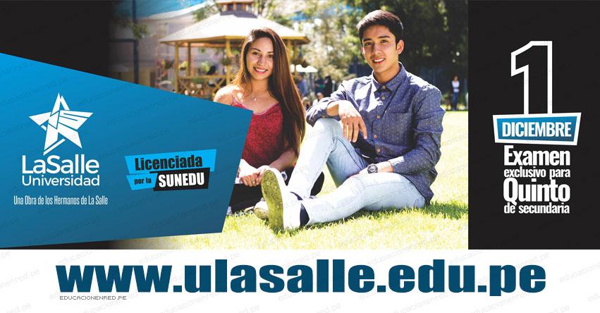 Resultados Universidad La Salle 2018 (Examen 1 Diciembre) Lista Ingresantes Quinto de Secundaria - Arequipa - www.ulasalle.edu.pe