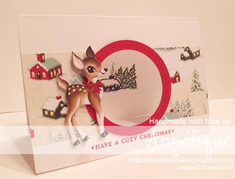 Stampin' Up!, Stempelkeuken, Angélique Nederpel, Home For Christmas DSP, Cozy Christmas