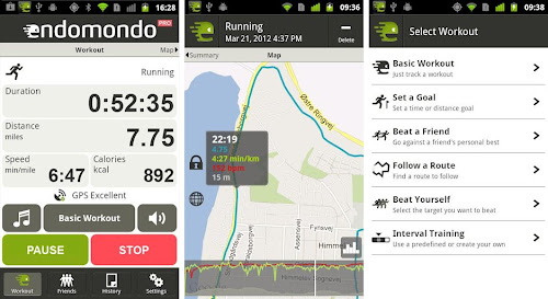 Endomondo iPhone Health and Fitness App