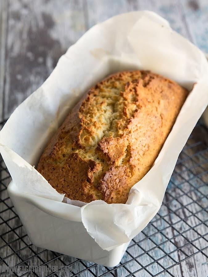El gato goloso: cake de coco y limón rápido y fácil de preparar