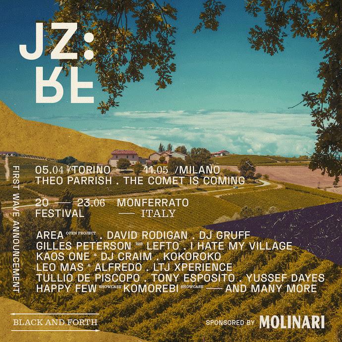 JAZZ:RE:FOUND FESTIVAL - dal 21 al 23 giugno in Monferrato - i primi  artisti annunciati
