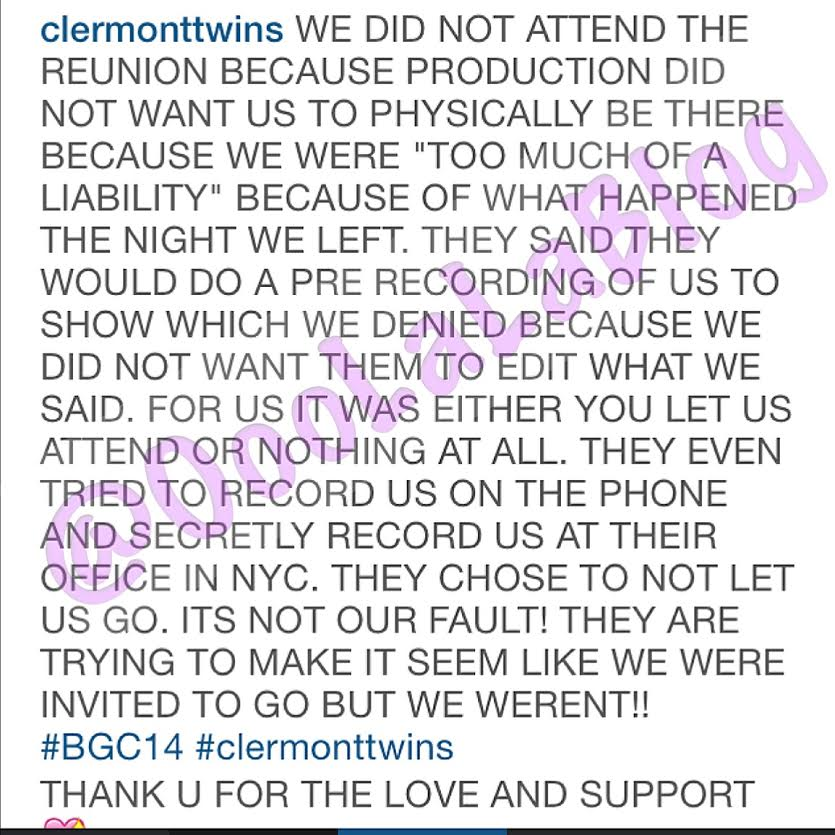 Bad Girls Club' Season 14 Reunion: Clermont Twins Say They