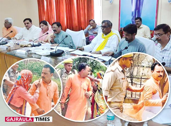 जवाब देने लगा लोगों का धैर्य, मंत्रियों की मौजूदगी में भाजपा नेता की पिटाई, कुर्ता भी फाड़ा