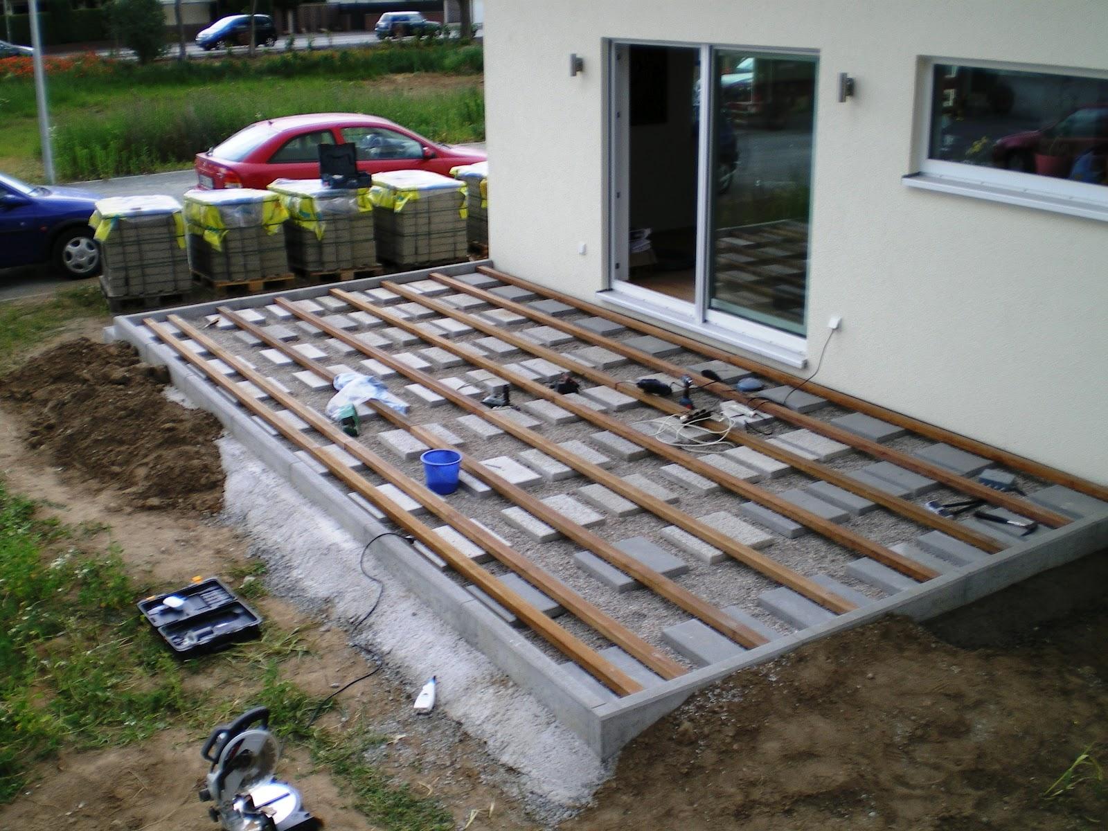 terrasse bauen unterbau ehrf rchtige terrasse bauen unterbau von unterbau terrasse wpc. Black Bedroom Furniture Sets. Home Design Ideas