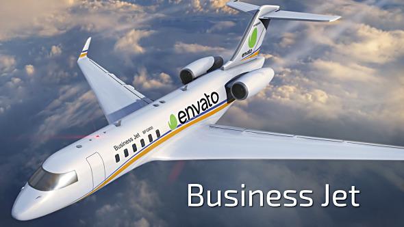 لوجو على طائرة رجال الأعمال بالجو