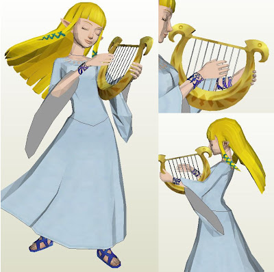 Papercraft Skyward Sword Princess Zelda Papercraft