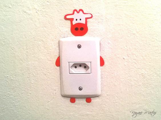 interruptor decorado vaquinha