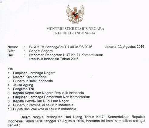 Download Pedoman Peringatan Hari Ulang Tahun Kemerdekaan Republik Indonesia  Download Pedoman Peringatan HUT Kemerdekaan RI ke-71 Tahun 2020