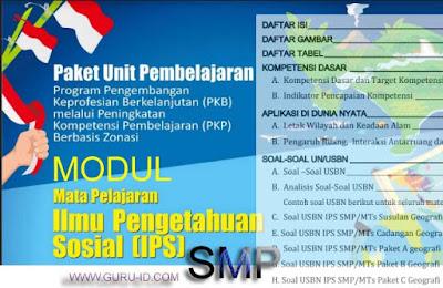gambar modul PKP guru IPS SMP 2019