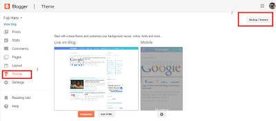 Cara Backup Postingan Blog dan Template