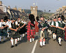 Massed Pipe Bands in Dufftown