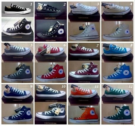 Ciri khas sepatu Converse All Star adalah penggunaan tali sebagai pengait  yang mengeratkan sepatu dengan kaki pemakai. Kebanyakan produk converse  berwarna ... eff1607d3e