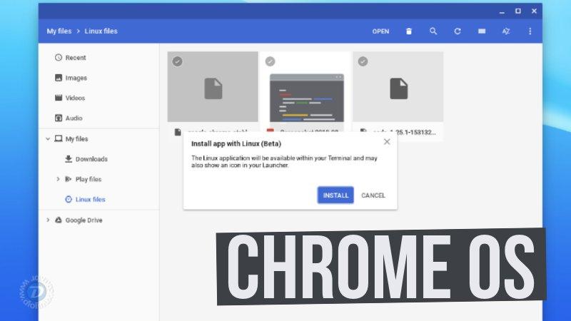Chrome OS agora tem suporte para instalar pacotes no formato