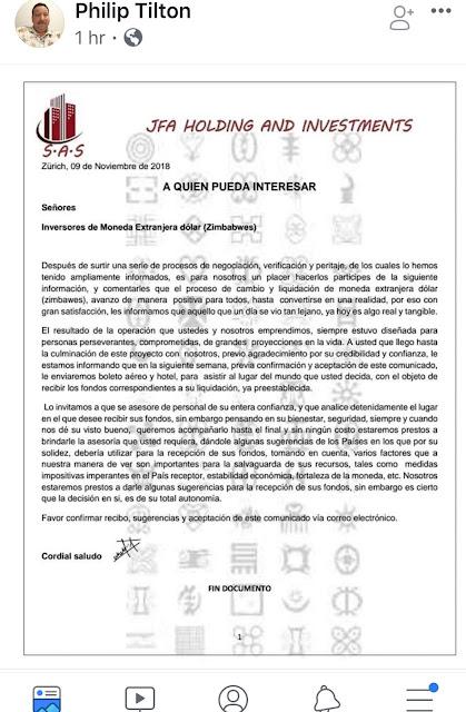 """Philip Tilton FB Letter Post Regarding Zim"" by PNW - 11/10/18 Image2"