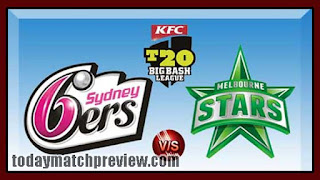 Today BBL T20 56th Match Prediction Sixer vs Star Dream 11 Tips