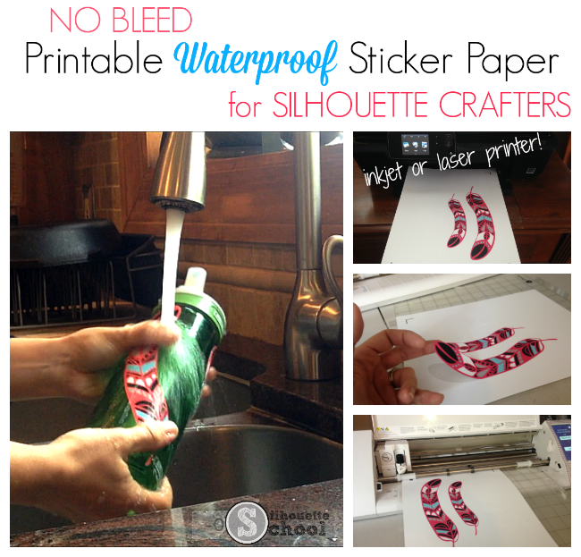 Silhouette tutorial, no bleed waterproof sticker paper, sticker paper