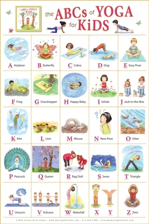 yoga for kids the abcs of yoga for kids poster sale