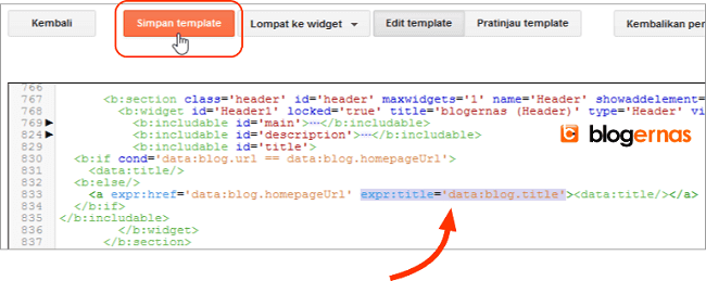 Cara Menyisipkan Title Tag pada Judul Blog