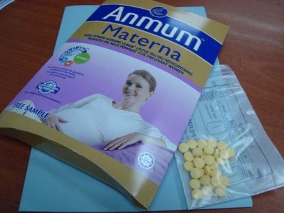 sampel susu anmum materna