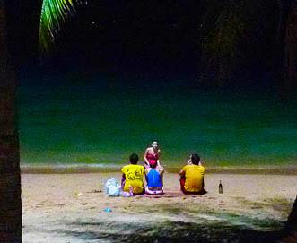 Pattaya beach road nightlife