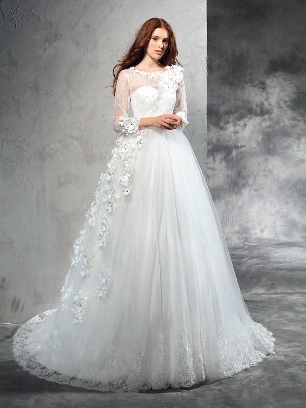 abiti sposa maniche lunghe