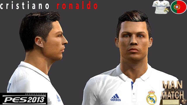 Ultigamerz PES Cristiano Ronaldo Face Hair - New face hair cristiano ronaldo pes 2013