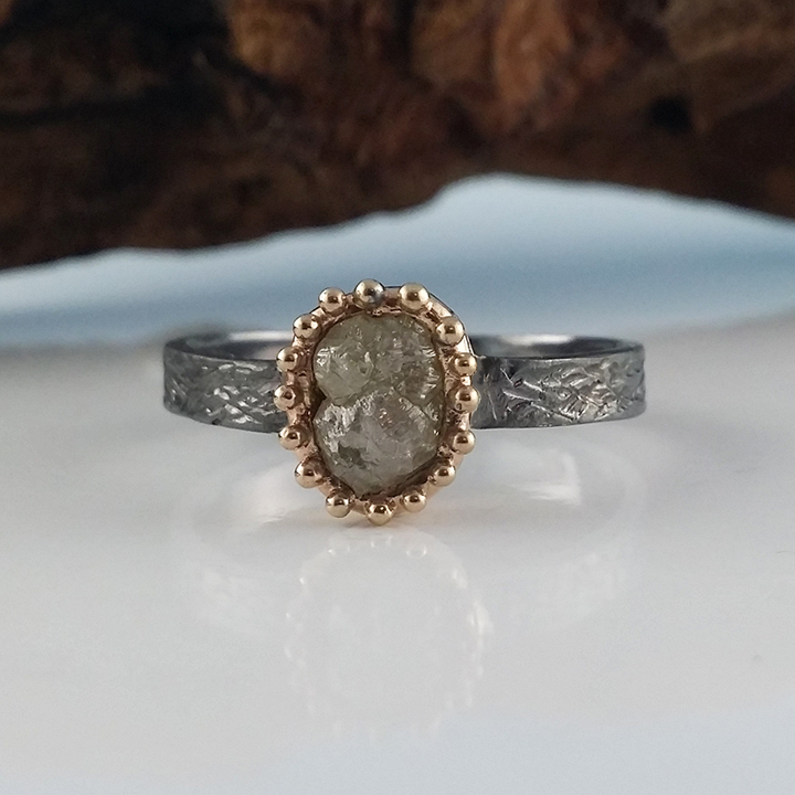 Dawn Vertrees Raw Uncut Rough Engagement Wedding Rings Rough