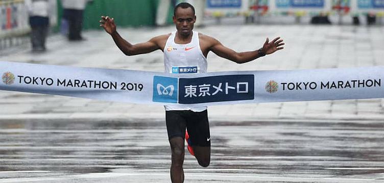 Birhanu Legese, vencedor da maratona de Tóquio em 2019