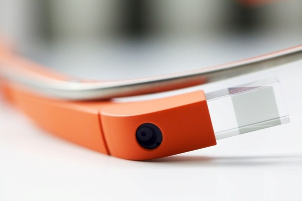 Google Glass Closeup orange Frame: Intelligent Computing