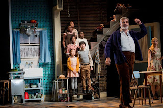 Michael Druiett, Lauren Zalozzi & children - Massenet Werther - English Touring Opera - photo Robert Workman