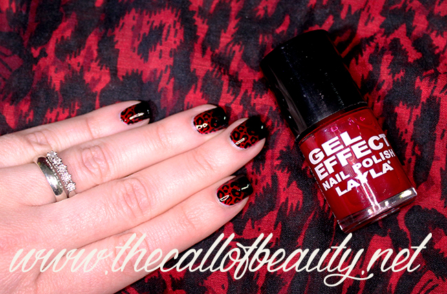 Red & Black Leopard Mani