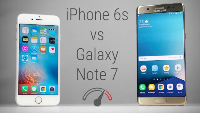 هاتف  Iphone 6s يتفوق على Galaxy Note 7 في أختبار السرعة | بالفيديو