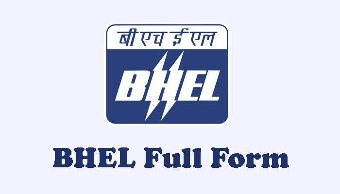 Bhel full form in hindi