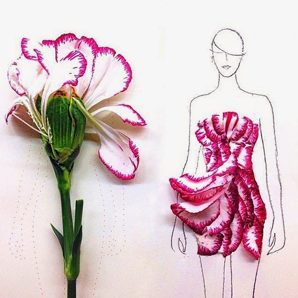 Flower fashion illustrations of grace ciao