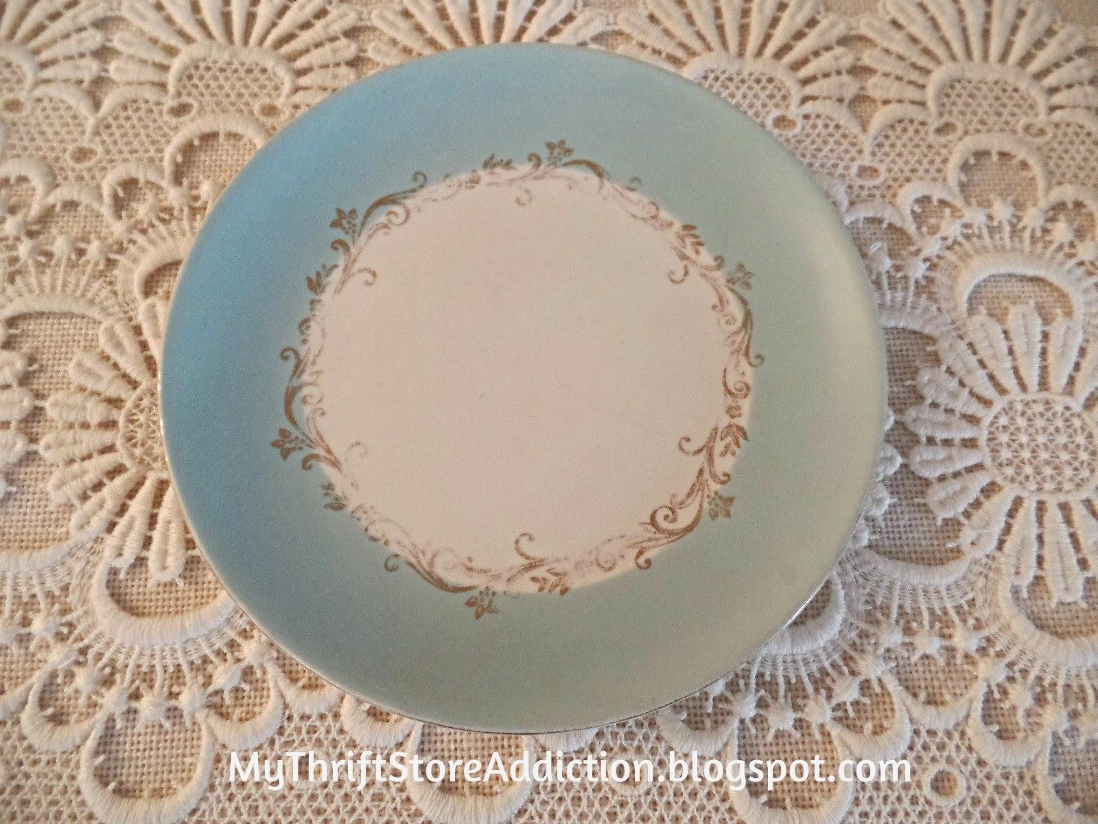 Vintage aqua plate