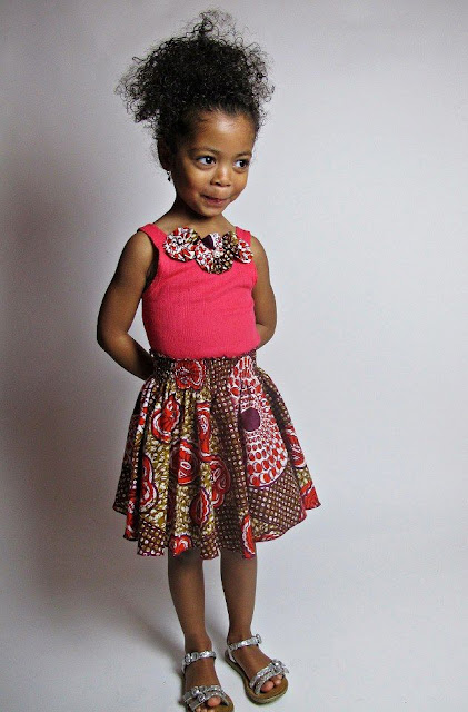 trendy ankara skirts for kids, Ankara Gowns And Flare Skirt For Kids, ankara gowns for little girls, new ankara for kids styles