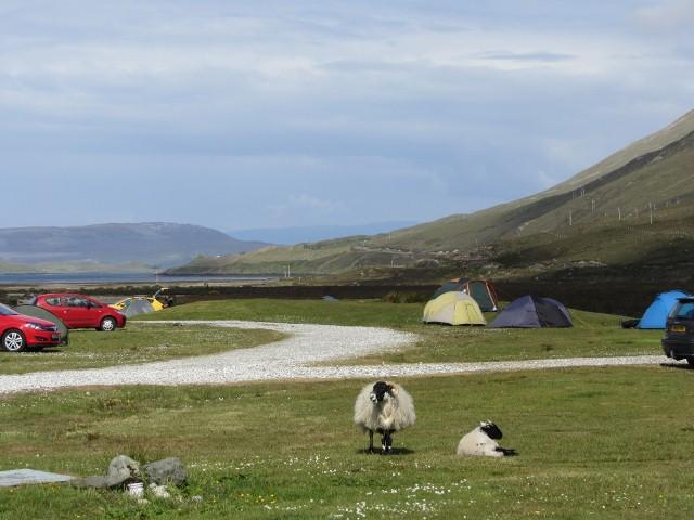 Uitzicht op eiland Skye in Schotland