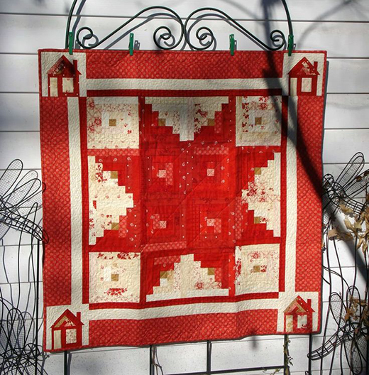 Star Log Cabin Quilt Free Tutorial