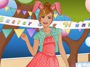 Have a great time playing this new Dress Up game called Fashion Studio Easter Bunny on GamesGirlGames.com. Easter is finally here and this pretty girl is in desperate need of a beautiful Easter outfit.  This year she wants an Easter bunny dress. Can you design this new outfit for her? First you must design the new dress. Select 4 clothing garments and change its color and pattern. After you created the new outfit, you can add some nice accessories in the makeover part. Have fun!