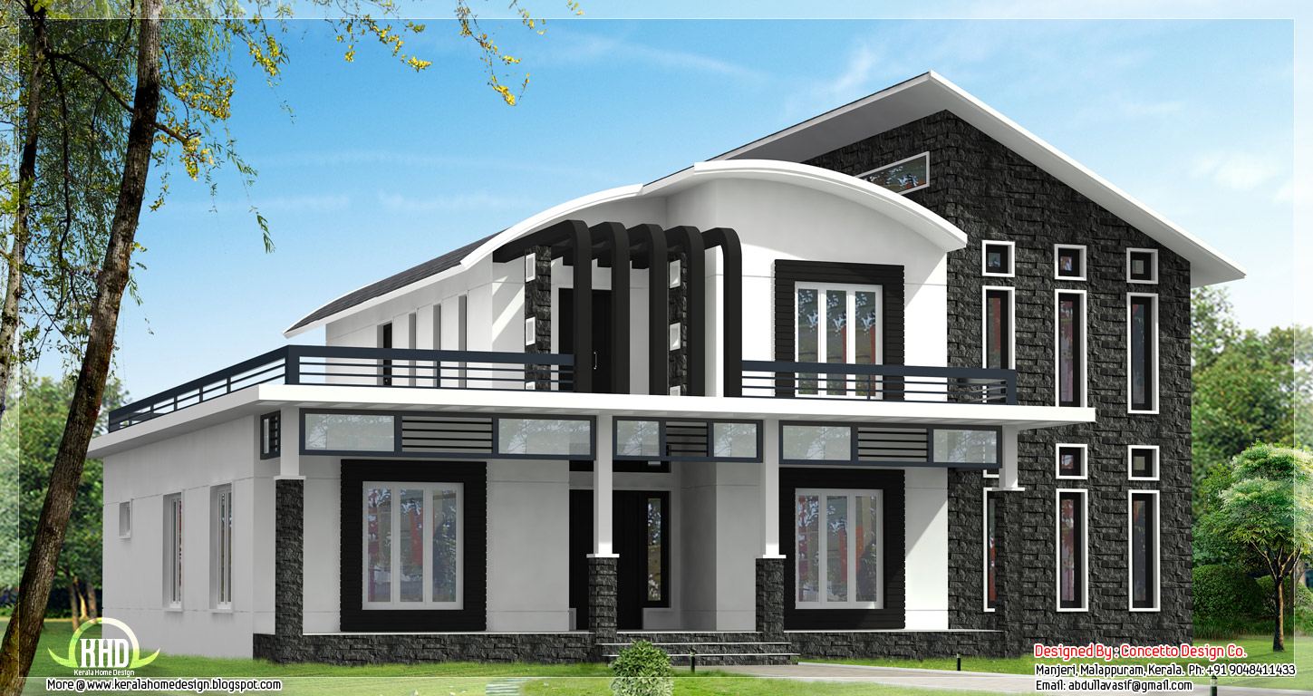 This unique home design can be 3600 sq.ft. or 2800 sq.ft. - Kerala home design and floor plans
