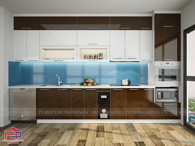 Tủ bếp gỗ công nghiệp hiện đại