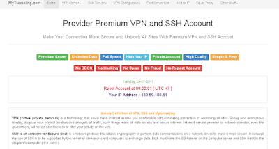 Mytunneling Pembuat Akun VPN Premium