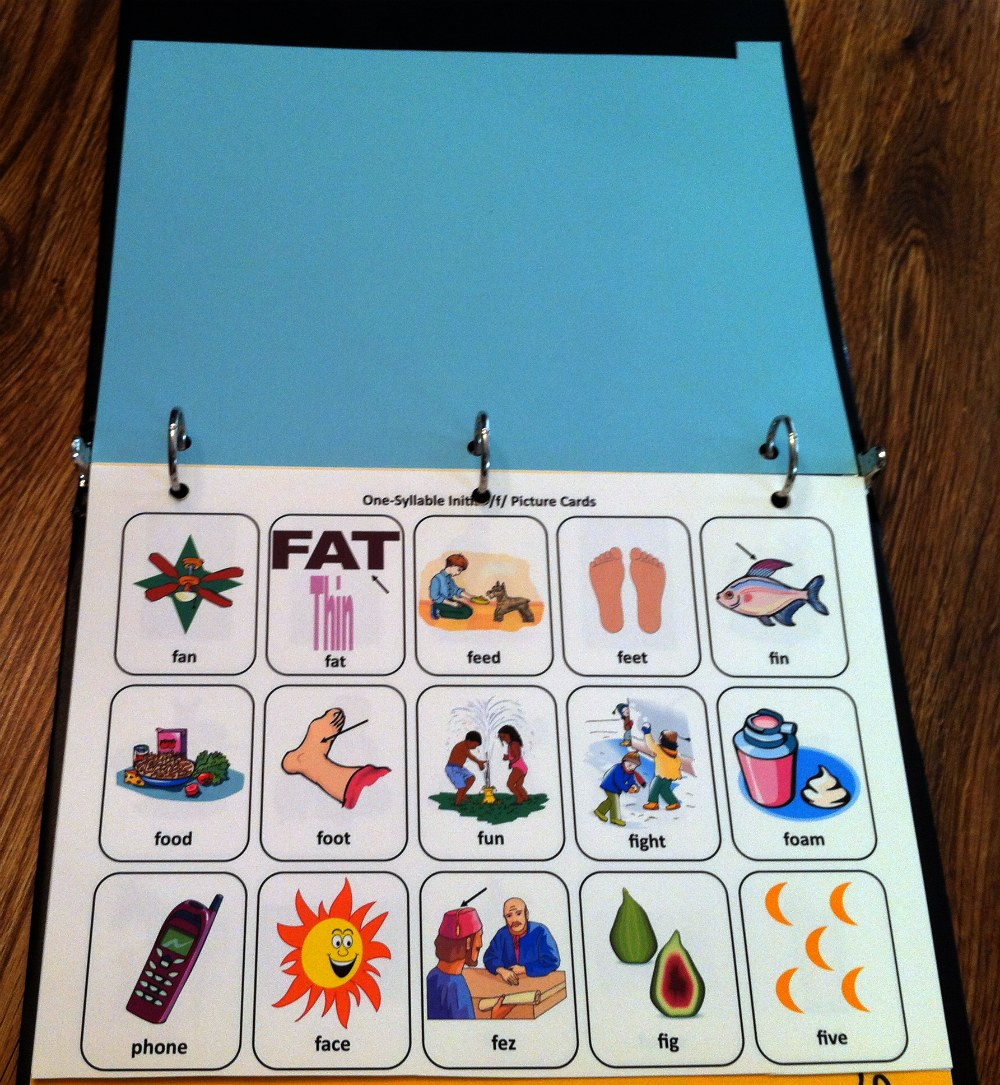 Picture Cards Apraxia