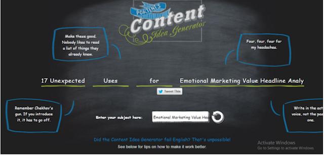 Portent`s Content Idea Generator