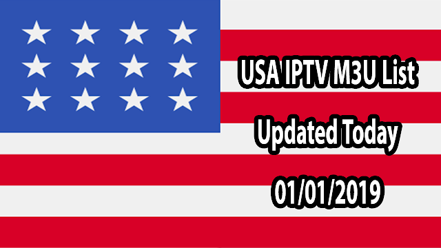 USA IPTV M3U List Updated Today 01/01/2019