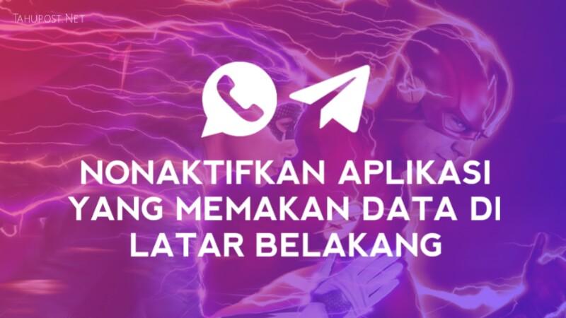 Logo whatsapp dan telegram, matikan aplikasi yang menggunakan paket data di latar belakang