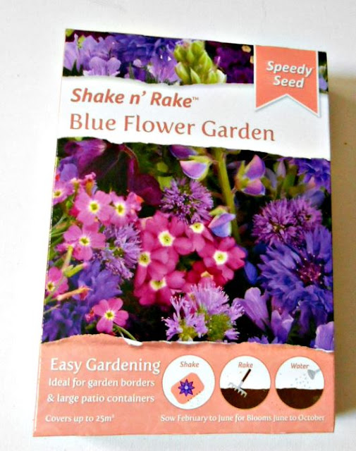 More beautiful mixed wild flower seeds in shades of blues and purples, will be planted in our front garden in the hope of helping provide a food source for precious bee visitors.