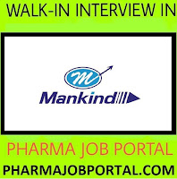 Mankind Pharma Ltd  Walk In Interview for Freshers & Experienced ,Production, Packing at 10 July